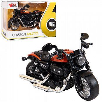 Мотоцикл ABtoys металлический инерционный 1:14 (1)