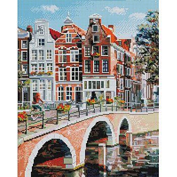 Набор для творчества Белоснежка Алмазная мозаика на раме Императорский канал в Амстердаме 40х50см