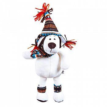 Мягкая игрушка Собака в шапке, 18см
