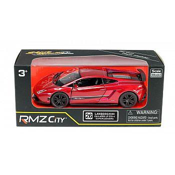 Машинка металлическая Uni-Fortune RMZ City 1:36 Lamborghini Gallardo LP570-4 Superleggera, инерционная, цвет красный металлик