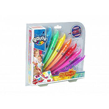 Краски акриловые, в наборе 7 цветов, блистер-упаковка.