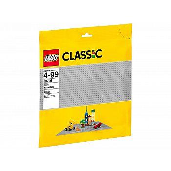 Пластина строительная LEGO серого цвета