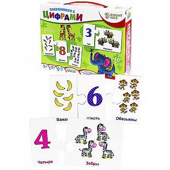 Обучающая игра BRIGHT KIDS с пазлами Знакомимся с цифрами