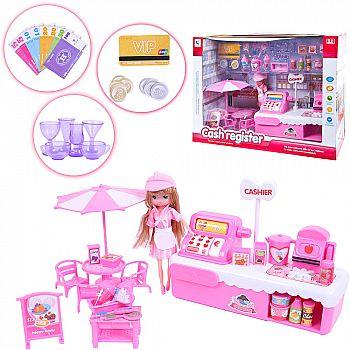 """Набор игровой с мини-мебелью """"Магазин мороженого"""", в коробке, 41х13,5х30 см"""