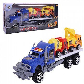 Спецтехника. Автовоз с двумя машинками строительной техники