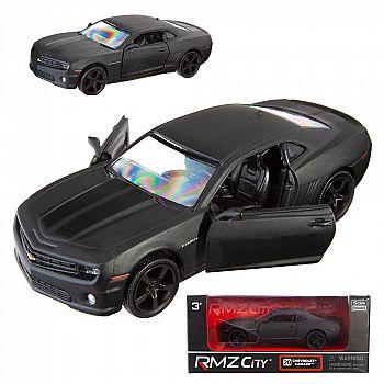 Машинка металлическая Uni-Fortune RMZ City 1:32 Chevrolet Camaro, инерционная, серый матовый цвет, 16.5 x 7.5 x 7 см