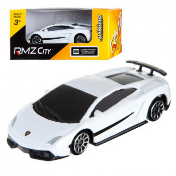 Машинка металлическая Uni-Fortune RMZ City 1:64 Lamborghini Gallardo LP570-4 без механизмов, (белый), 7,18х3,10х1,95 см