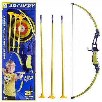 Игровой набор Junfa Лук со стрелами, колчаном и мишенью