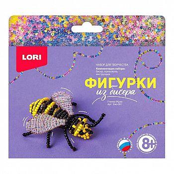 Набор для творчества LORI Фигурки из бисера Пчелка Жужа