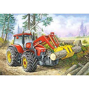 Пазл Castorland 60 деталей Трактор, средний размер элементов 3,8x3,2 см