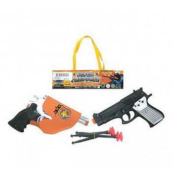 Набор игровой полицейский Пистолет 2шт, кобура, 2 пули на присосках, в пакете, 14х17х4см