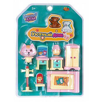 Игровой набор ABtoys Уютный дом Набор мини-мебели. Спальня