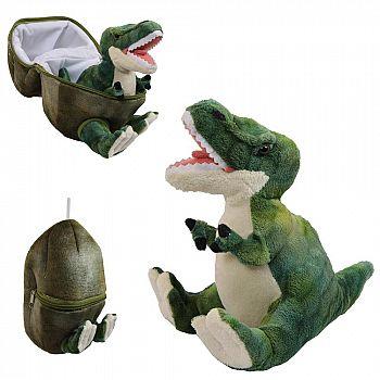 Мягкая игрушка ABtoys Dino World Динозавр в яйце, зеленый 22 см.