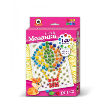 Мозаика Classic Воздушный шар 140 эл, D 10+15 мм, Малая плата