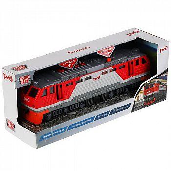 Машинка Технопарк Тепловоз РЖД со светом и звуком 30 см