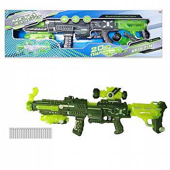 Мегабластер, в наборе с 20 мягкими снарядами, на батарейках