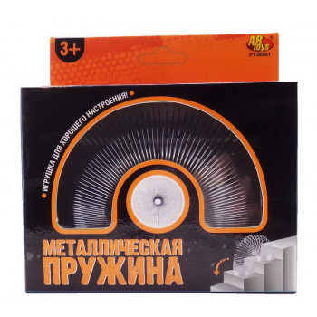 Игрушка-антистресс ABtoys Пружинка металлическая, диаметр 4,6 см, цвет серый