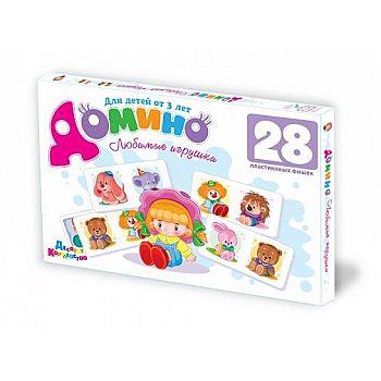 Домино Любимые игрушки (пластик), 28 элементов (с 3-х лет)