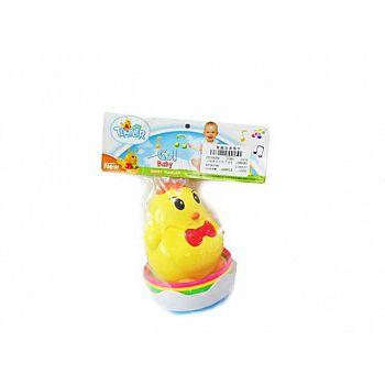 Игрушка для малышей. Неваляшка Цыпленок, звуковые эффекты, 17x24x10см