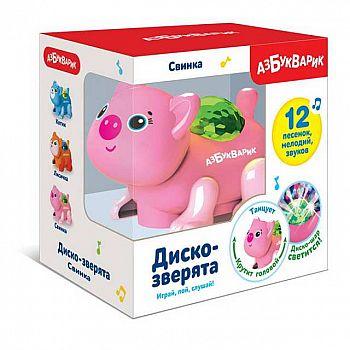 Свинка (Диско-зверята) Темно-розовая
