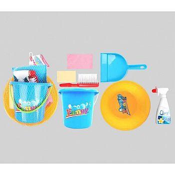 Набор для уборки, 7 предметов в наборе, в сетке, 20,5x20,5x14,5см