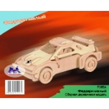 Сборная деревянная модель Чудо-Дерево Транспорт Спорткар (2 пластины)
