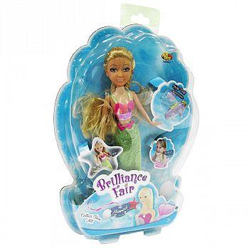 Кукла Brilliance Fair Русалочка с диадемой и подвеской в виде морского конька, 26,7 см