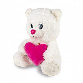 Мягкая игрушка Maxitoys Мишка с Сердцем, Озвученный, 21 См