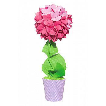 Топиарий Гортензия розовая, 15 см