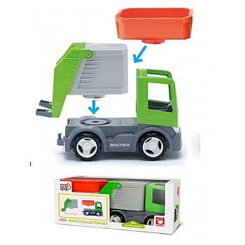 Мусоровоз со сменными кузовами, экологичная упаковка, пластмасса