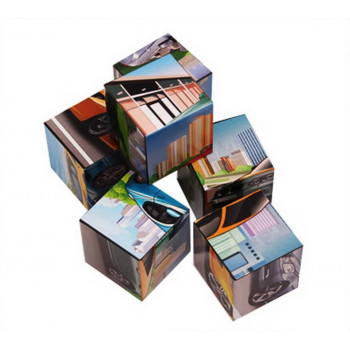 Кубики пластиковые 6 шт. МАШИНКИ