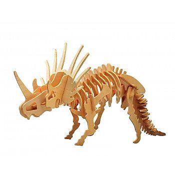 Сборная деревянная модель Чудо-Дерево Динозавры Стриказавр (4 пластины)