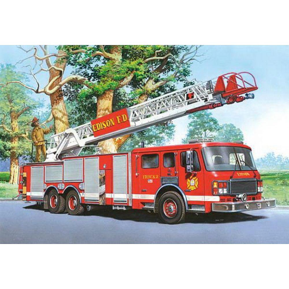 Пазл Castorland 60 деталей Пожарная команда MIDI, средний размер элементов 3,8x3,2 см