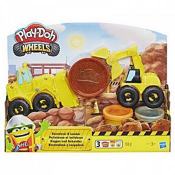 Набор для творчества Hasbro Play-Doh Wheels для лепки Экскаватор