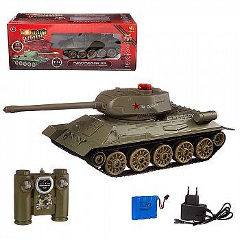Радиоуправляемый танк Т-34 (на аккум., свет, звук)
