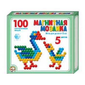 Мозаика магнитная шестигранная 100 фишек/ 5 цветов