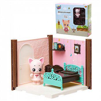 Игровой набор ABtoys Уютный дом Домик для кошки. Спальня