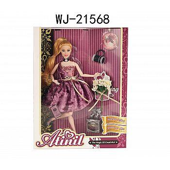 """Кукла Junfa """"Atinil. В театре на премьере"""" в фиолетовом платье, 28см"""
