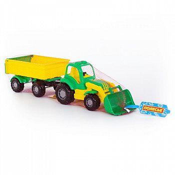 Трактор с прицепом №1 и ковшом Крепыш