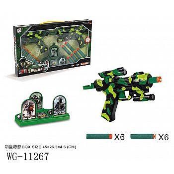Игровой набор Junfa 2 космобластера, мишень и 12 мягких пуль