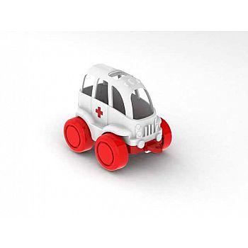 Машинка скорая помощь Нордик (без упаковки) 11,5х7,8х6,5 см