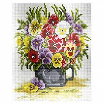 Набор для творчества Белоснежка алмазная мозайка на раме Цветочное счастье 20 на 25 см
