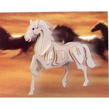 Сборная деревянная модель Чудо-Дерево Животные Лошадь (3 пластины)