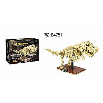 Конструктор Junfa Linoos Дино музей, скелет Тираннозавра, 179 детали.