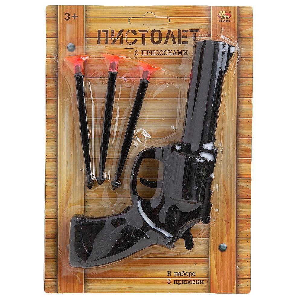 Пистолет ABtoys с 3 пулями на присосках), на блистере