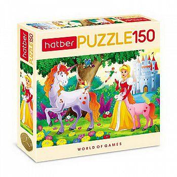 Пазл Hatber 150 элементов формат А4 330х220мм Любимые сказки