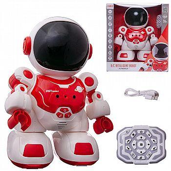Робот на радиоуправлении JUNFA Астронавт с пультом управления, красный