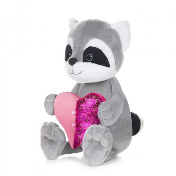 Мягкая Игрушка Maxitoys Luxury Romantic Toys Club Романтичный Енотик с Сердечком, 25 см, в Коробке