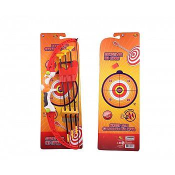Игровой набор ABtoys Лук со стрелами на присосках, в наборе 3 стрелы с держателем и лук