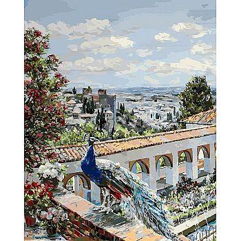 Набор для творчества Белоснежка картина по номерам на холсте Сады Гранады 40*50 см